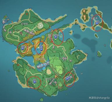 原神 (Genshin Impact) 稻妻魔晶礦刷新機制及地點