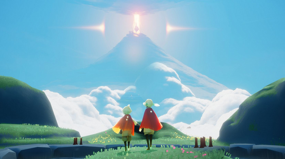 """Sky光遇-Sky: Children of the Light-這是一場擁抱自由和溫暖的雲端之旅。與你心愛的人們攜手,在這座曠世的天空王國中翱翔,愛的力量將支持你一路前行。見證一個宏大而不斷變化的天空王國,在如夢似幻的雲海之中,隨心所欲地翱翔;與雲同行,與愛共鳴,在廣闊的天地之間自由地追尋""""飛翔""""的夢想,以心為涯。..."""